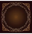 Vintage radial ornament over brown vector image vector image