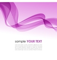 Abstract colorful background violet smoke wave vector image