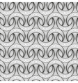 Abstract seamless pattern with 3D lined half-moon vector image