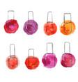 bottles of nail polish vector image