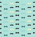 bow tie and mustache seamless pattern father s vector image