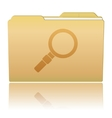 Folder with Magnifier vector image