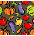 food background with vegetables seamless pattern vector image