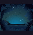 forest scene at night vector image