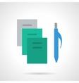 School supplies flat color icon Copybooks vector image