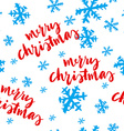 Seamless Christmas pattern Hand lettering vector image