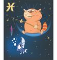 Zodiac Signs Pisces Cartoon vector image