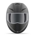 black motorcycle helmet front view isolated on a vector image