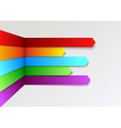 Colorful bright threedimensional infographics vector image