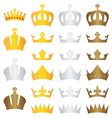 king crown gold silver bronze vector image