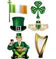 Collection of Irish vector image