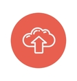 Cloud with arrow up thin line icon vector image vector image