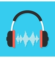 headphones and equalizer with shadow vector image