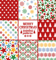 Set Of Christmas And New Year Seamless Patterns vector image
