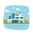 Modern house Flat design vector image