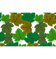 Seamless with maple leaves vector image