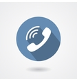 Ringing phone handset icon isolated on white vector image