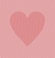 Op art heart Optical striped seamless vector image