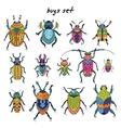 Cartoon bugs in set vector image vector image