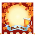 Banner Octoberfest space vector image vector image