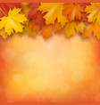 autumn maple leaves on blurry background vector image