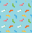 colorful socks seamless pattern background vector image