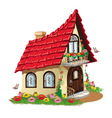 fairytale house vector image