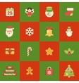 Flat icons christmas set vector image