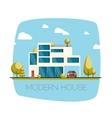 Modern house Flat design vector image