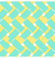 Yellow and blue zig zag lines pattern background vector image