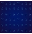 Zodiac signs seamless pattern vector image