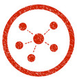 connections rounded grainy icon vector image