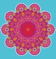 round colorful mandala vector image