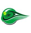 Tennis sports icon vector image vector image