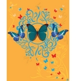 silhouette butterfly vector image vector image