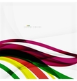 Rainbow color wave stripes vector image vector image