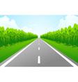 empty road vector image