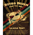 retro grunge concert poster vector image vector image