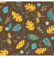 Brown fall pattern vector image vector image
