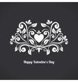 Valentine Blackboard Heart vector image