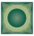 Vintage radial ornament with background vector image