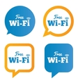 Wifi speech bubbles Free wifi symbols Wireless vector image