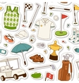 Golf seamless pattern vector image