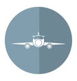 jet airplane private transport front view gray vector image