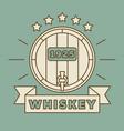 whiskey logo design - vintage whisky label vector image