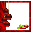 christmas abstract red vector image