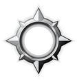 steel compass rose vector image