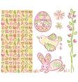 Easter design elements vector image vector image