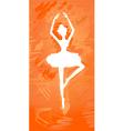 ballerina silhouette vector image vector image