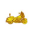 Motorcycle Motorbike Woodcut vector image